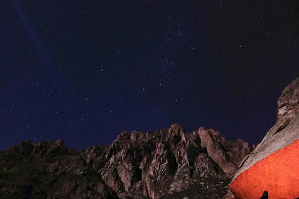 Frente a las paredes de los Andes